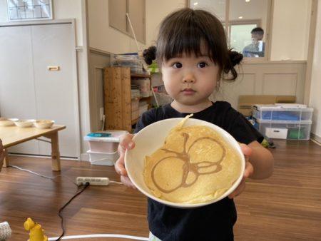 お絵かきホットケーキ作り