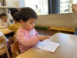 折り紙に挑戦🍊